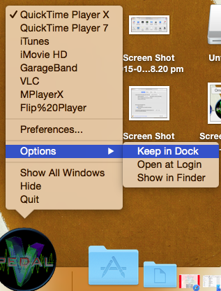 keep in dock osx
