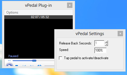 vPedal Media Player - win8